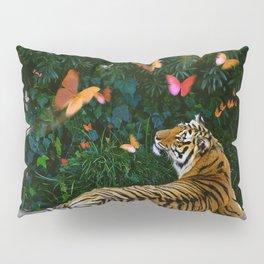 Tiger's Butterfly Friends Pillow Sham