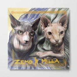 Zemo & Milla w/ Names Metal Print