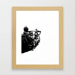 Geeky Bear Framed Art Print
