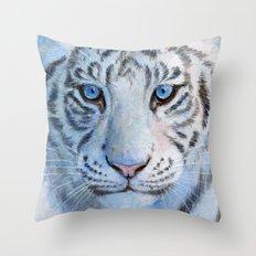 White Tiger Cub 852 Throw Pillow