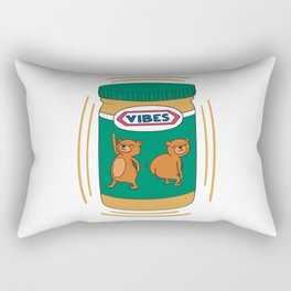 Peanut Butter Vibes - Smooth Rectangular Pillow