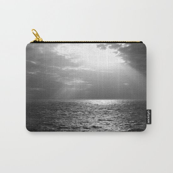 Black and White Sea Carry-All Pouch