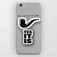 magritte iPhone & iPod Skins featuring magritte by serbangabriel