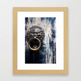 Chinese Lion Door Knocker Framed Art Print