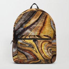 Tiger's Eye gemstone pattern Backpack