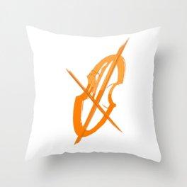 Cello Music Theme Terracota Copper Throw Pillow