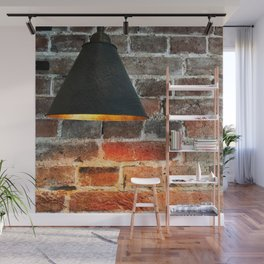 Light On A Brick Wall Wall Mural