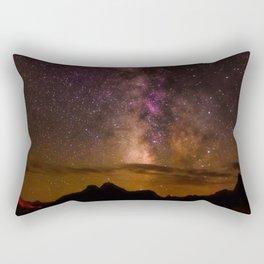 Milky Way over the Badlands South Dekota Rectangular Pillow