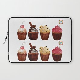 double row of cupcakes Laptop Sleeve