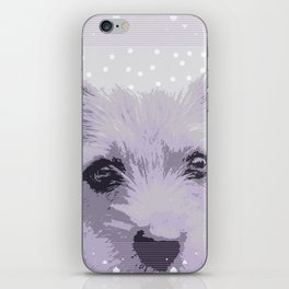 Curious little dog waiting for you - funny dog portrait iPhone Skin