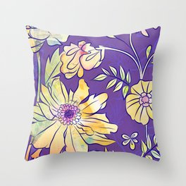 Francella Floret Throw Pillow