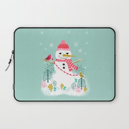 Holiday Snowman by Andrea Lauren  Laptop Sleeve