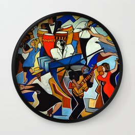 Salsa Salvaje Wall Clock