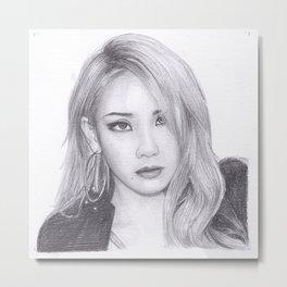 Chaelin Lee CL from 2ne1 Metal Print