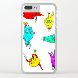 Zombie Handz Clear iPhone Case