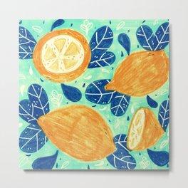 summer and lemons Metal Print