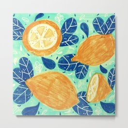 summer and lemons Metal Print