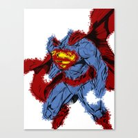 man of steel Canvas Prints featuring Man Of Steel by alsalat