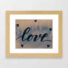 Valentine's Day Watercolor Love – neutral Framed Art Print