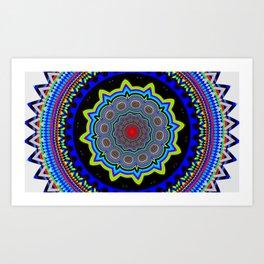 Zoom Mandala Art Print