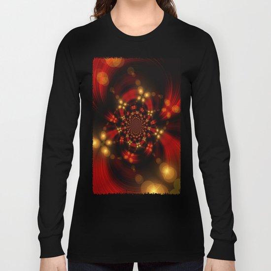 Christmas-Fractal Long Sleeve T-shirt