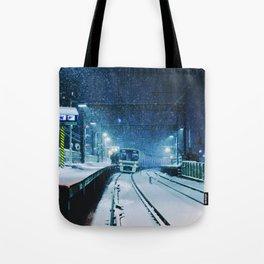 Shimotakaido Station Snow Tote Bag