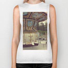 Carousel in the amusement park Biker Tank