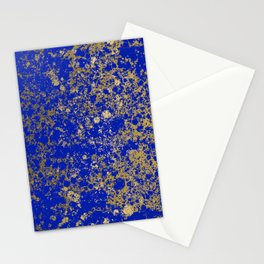 Royal Blue and Gold Patina Design Stationery Cards