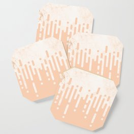 Marble and Geometric Diamond Drips, in Peach Coaster