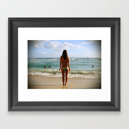 Fear and Trepidation Framed Art Print