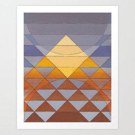 Pyramid Sun Mauve Purple Art Print