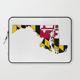 Maryland Map with Flag of Maryland Laptop Sleeve