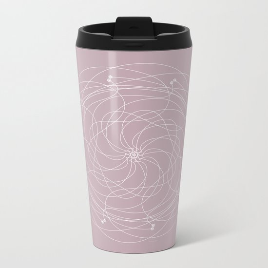 Ornament – Merry Go Round Flower Metal Travel Mug