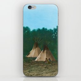 Assiniboine Camp - American Indian Tipis iPhone Skin