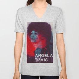 Angela Davis Unisex V-Neck