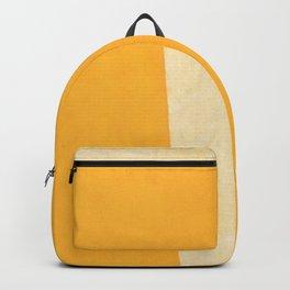 Yellow White Backpack