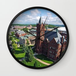 Syracuse University Hill Aerial Photo Wall Clock