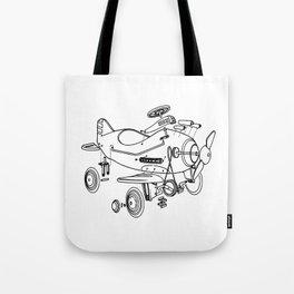 Pedal Plane Tote Bag