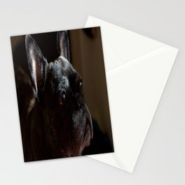 Frenchie Contemplating Life Stationery Cards