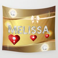 melissa smith Wall Tapestries featuring Melissa 01 by Daftblue