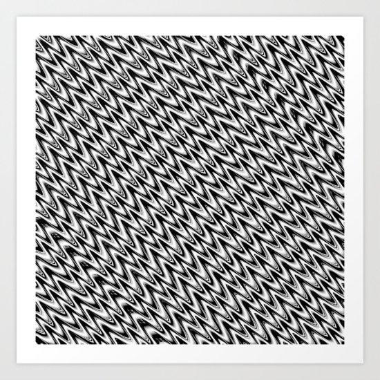 Black and White 3 Art Print
