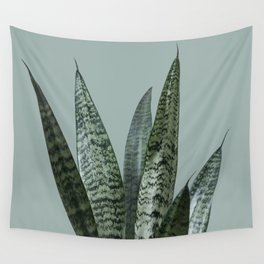 Snake plant in green Wall Tapestry