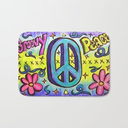 Groovy Peace Bath Mat