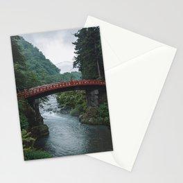 Red Mountain View Bridge. Nikko, Japan. Travel print - Photography wall art. Art print. Stationery Cards