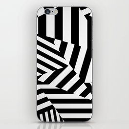 RADAR/ASDIC Black and White Graphic Dazzle Camouflage iPhone Skin