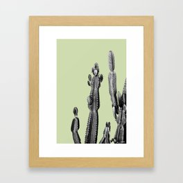 green cactus friend Framed Art Print