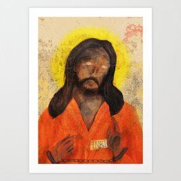 Jumpsuit Jesus Art Print