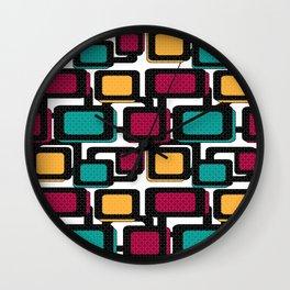 Seamless pattern with geometric elements Wall Clock