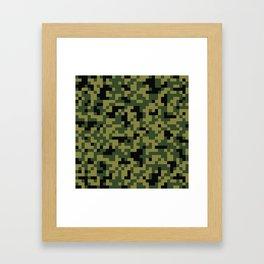 Digital Green Camouflage Pattern Framed Art Print