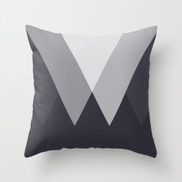 Sawtooth Inverted Blue Grey Throw Pillow